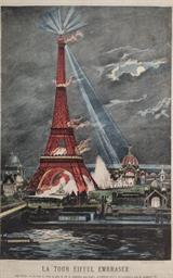 La Tour Eiffel embrasée; La Pe