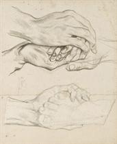 Une étude de pied; et Une étude de mains jointes