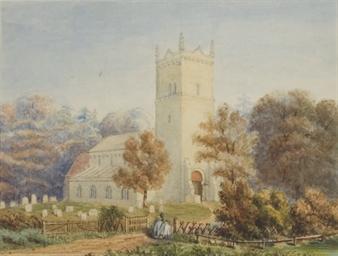 Vue d'une église en Angleterre