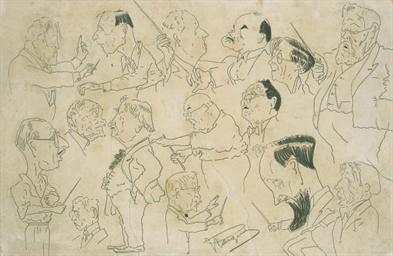 Caricatures de chefs d'orchest
