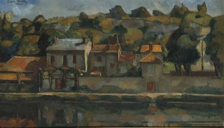 Maisons au bord d'une rivière