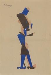 Homme en bleu