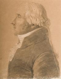 Portrait d'homme en buste de p