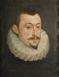 Portrait d'homme avec une frai