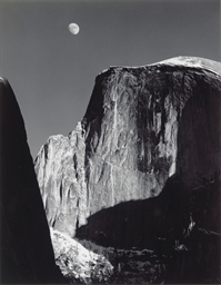 Moon and Half Dome, Yosemite N