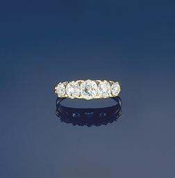 A Victorian diamond five stone