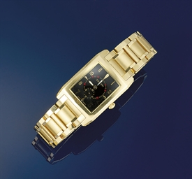 An 18ct. gold bracelet watch,
