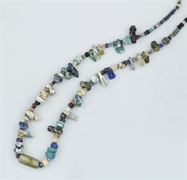 A Roman glass bead necklace