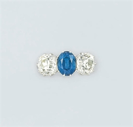 A sapphire and diamond three s