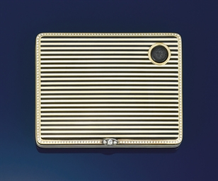 An Art Deco gold, enamel and d