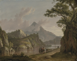 View of Loch Katrine, with tra