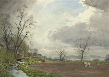 Ploughing at Newstead Bridge,