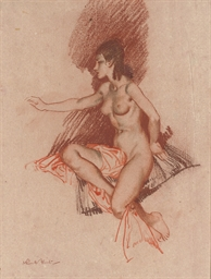 Study of a seated female nude