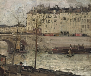 Boats on the Seine, Paris