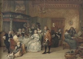 Hendrik Jacobus Scholten (Dutch, 1824-1907) | The elegant ...