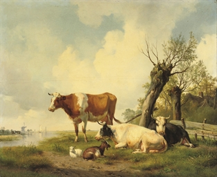 Cattle on the waterfront