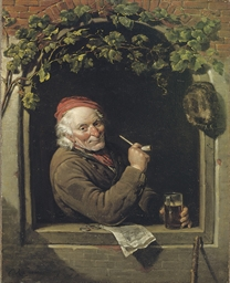 Smoking a pipe