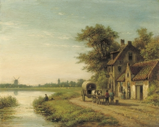 A fisherman along a river