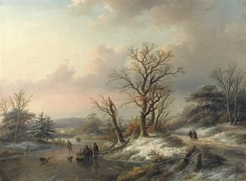 Woodgatherers on the ice