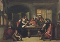 Gezelschap bij kaartspel: playing cards
