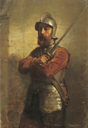 A portrait of a soldier