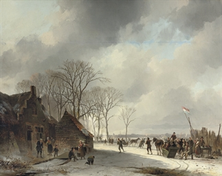 A crowded day on the ice