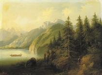 Partie aus Tirol: in a mountainous landscape