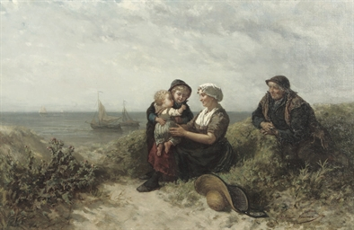 A family in the dunes