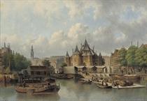 The Nieuwmarkt with The Waag, Amsterdam