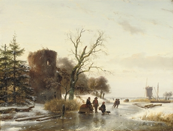 On the ice near a ruin