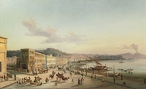 The bay of Naples with the Vesuvius beyond