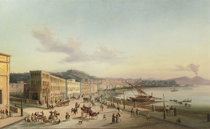 The bay of Naples with the Ves
