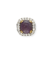 AN AMETHYST AND DIAMOND RING, BY MARCHAK