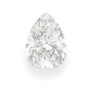 AN UNMOUNTED PEAR-SHAPED DIAMOND