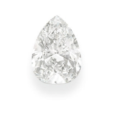 AN UNMOUNTED PEAR-SHAPED DIAMO