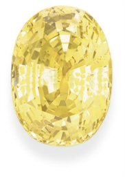 AN UNMOUNTED CUSHION-CUT YELLO