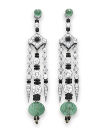 A PAIR OF ELEGANT ART DECO EME