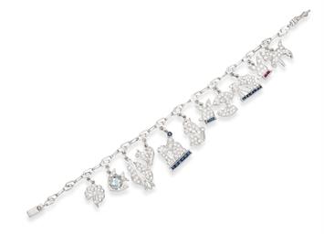 A MULTI-GEM AND DIAMOND CHARM