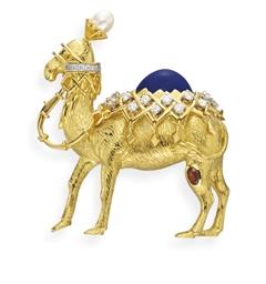 A GOLD, MULTI-GEM AND ENAMEL C