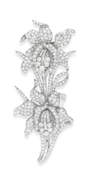 A DIAMOND ORCHID DOUBLE-CLIP B