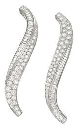 A PAIR OF DIAMOND