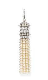 AN ELEGANT ART DECO PEARL AND