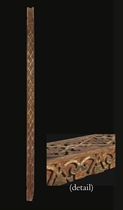AN UMAYYAD CARVED AND PAINTED LARCH BEAM
