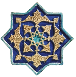 A MOULDED TIMURID STAR-SHAPED