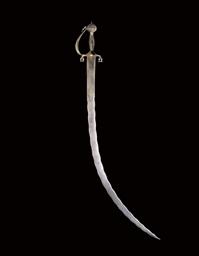 A SWORD (SHAMSHIR) WITH WAVY B