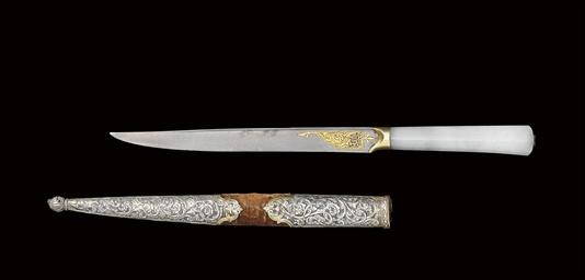 AN OTTOMAN JADE HANDLED KNIFE