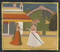 A NOBLEMAN AND CONSORT, JODHPUR, MID-18TH CENTURY