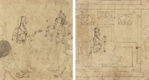 A DOUBLE-SIDED SKETCH, BASOHLI, MID-18TH CENTURY