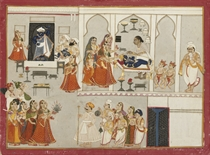 ILLUSTRATION FROM A MANUSCRIPT ON THE WORSHIP OF SRINATHJI,