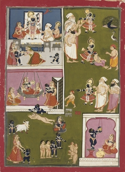 ILLUSTRATION FROM A MANUSCRIPT ON THE WORSHIP OF SRINATHJI, RAJASTHAN, 1780